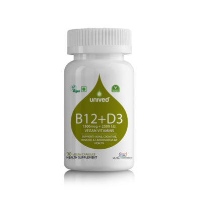 Unived Vegan Vitamin B12 D3