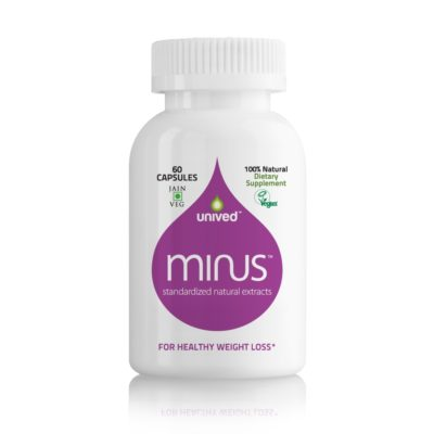 Unived Minus Health Weight Management Supplement with Garcinia Cambogia and Green Coffee Bean, 60 Vegan Capsules