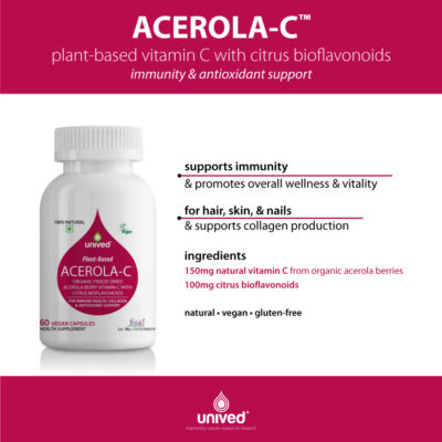 Unived Organic Vitamin C from Acerola Berries