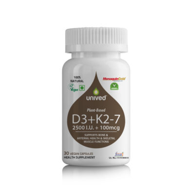 Unived Vegan Vitamin D3K2 60 Caps Front