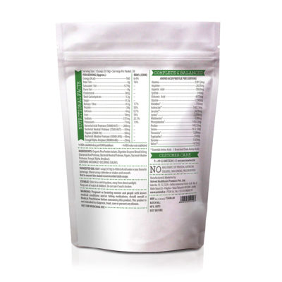 Unived Organic Pea Protein Nutritional Information