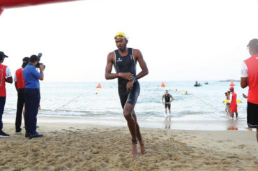 Unived Athlete Nihal Baig at Colombo Ironman