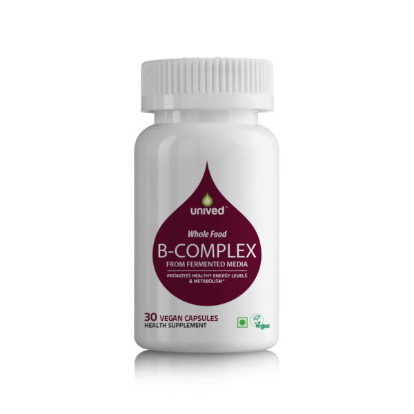 Unived Whole Food Vitamin B Complex Supplement