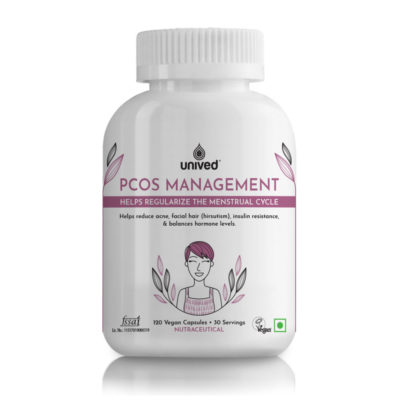 Unived PCOS Management Myoinositol Vitamin D3 Chromium
