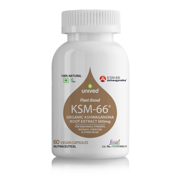 Unived KSM 66 60 Servings Organic Ashwagandha