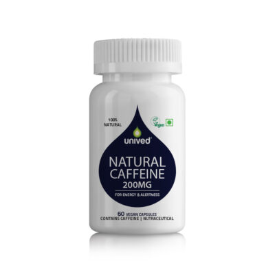 Unived Natural Caffeine 200mg Supplement