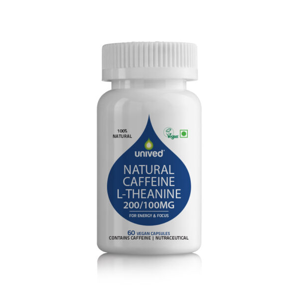 Unived Natural Caffeine L-theanine Supplement