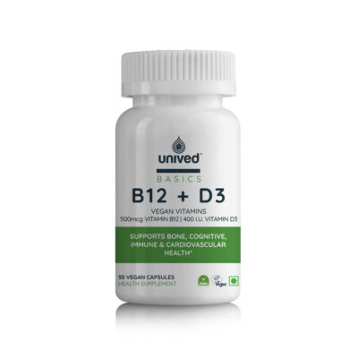 Unived Basics Vegan Vitamins B12 and Vitamin D3