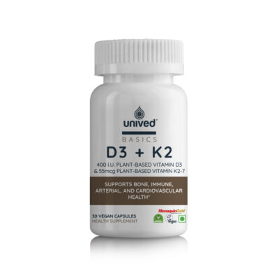 Unived Basics Vegan Vitamins D3 and Vitamin K2